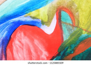 Creative colorful background. Blue and red abstract art. Creative pattern. Drawing, painting, illustration, cover design, backdrop, texture, abstract thinking, art therapy, creativity, lines. Ocean.