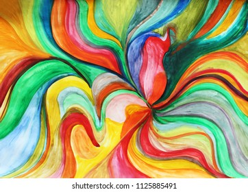 Creative colorful background. Color waves, river, ocean, colorful ocean, ocean colors, splash, positive energy, intuition, creativity, creative process, create, abstract thinking. Be happy.