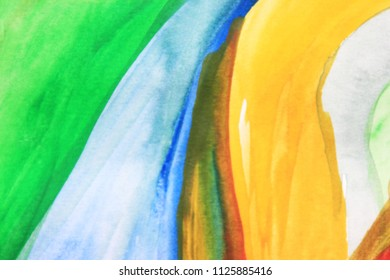 Creative colorful background. Yellow and green abstract art. Creative pattern. Drawing, painting, illustration, cover design, backdrop, texture, abstract thinking, art therapy, creativity, lines.