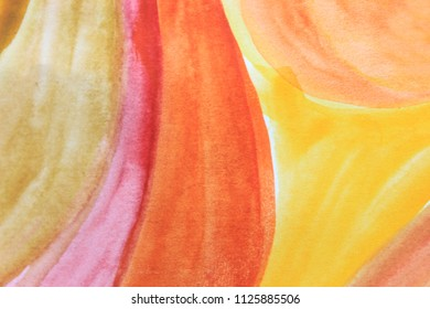 Creative colorful background. Yellow and orange abstract art. Creative pattern. Drawing, painting, illustration, cover design, backdrop, texture, abstract thinking, art therapy, creativity, lines.