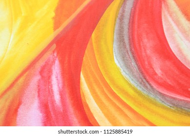 Creative colorful background. Yellow and red abstract art. Creative pattern. Drawing, painting, illustration, cover design, backdrop, texture, abstract thinking, art therapy, creativity, lines.