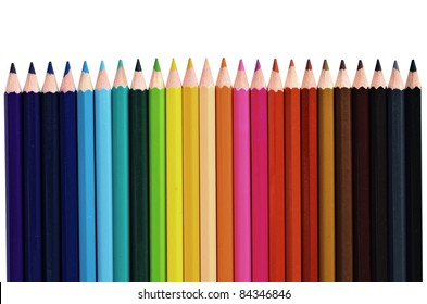 Creative concept shot of colorful pencils
