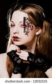Creative dark  gothic  make-up