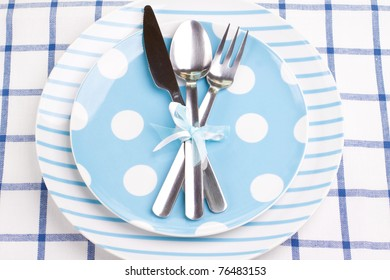 Creative dinner set (plate, fork, knife, spoon)