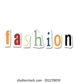 creative divided word - fashion