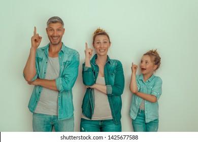 creative family having an idea