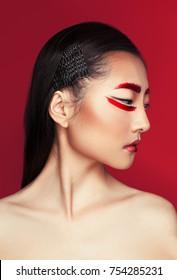 creative fashion portrait with make-up