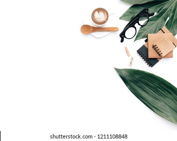 Creative flat lay photo composition for bloggers, magazines