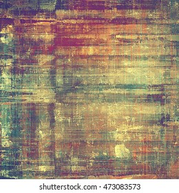 Creative grunge background in vintage style. Faded shabby texture with different color patterns: gray; green; red (orange); purple (violet); yellow (beige); brown