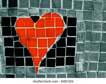 Creative heart mosaic