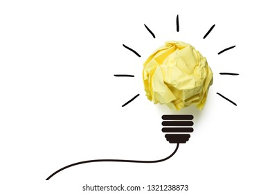 Creative idea and innovation concept with paper ball.
