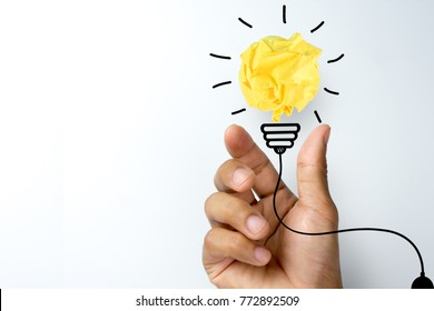 Creative idea, Inspiration, New idea and Innovation concepts