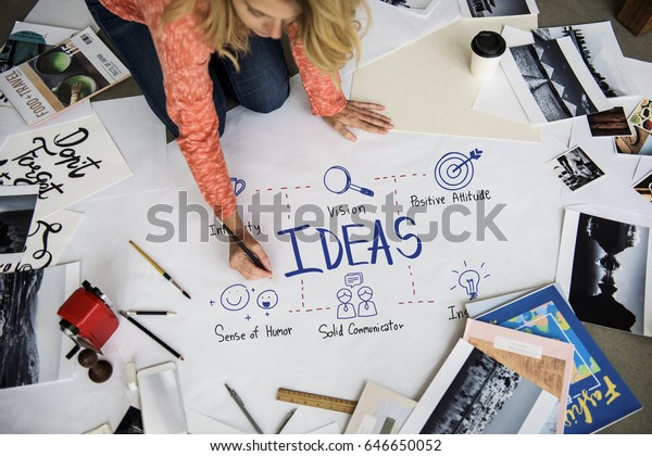 Creative Ideas Identity Product Develop Design Stock Photo Edit Now 646650052