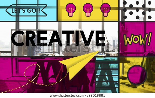 Creative Ideas Imagination Paper Airplane Light Bulb