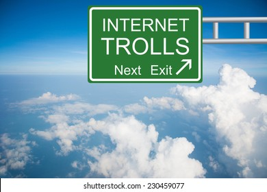 Creative a INTERNET TROLL Road Sign concept