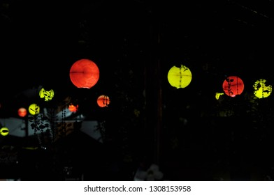 creative lampion has made from the ball