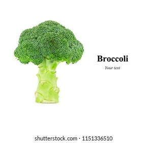 Creative layout made of Broccoli isolated on white background. Food concept.
