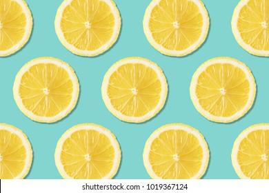 Creative layout made of lemons. Flat lay. Food vegan concept.