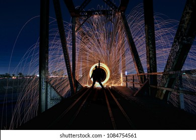 Creative Light Painting With Fire and Tube Lighting