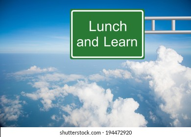 Creative Lunch and Learn Sign