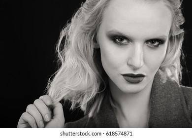 Creative makeup and hair