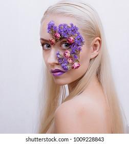 Creative makeup woman