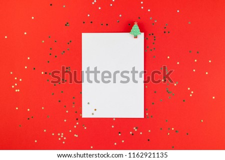 Christmas Greetings Letter.Creative New Year Christmas Greetings Letter Stock Photo