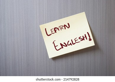 a creative note with learn English spelling mistake