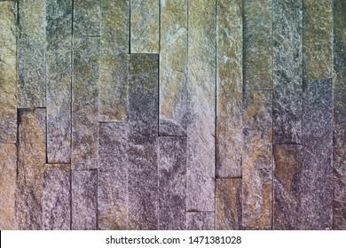 creative old orange natural quartzite stone bricks texture for design purposes.