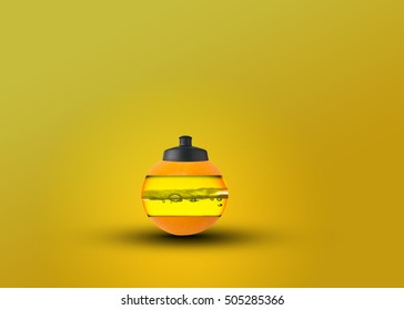 Creative orange juice bottle photo manipulation/Orange juice