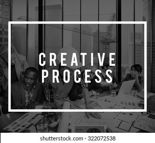 Creative Process Design Brainstorm Thinking Vision Ideas Concept