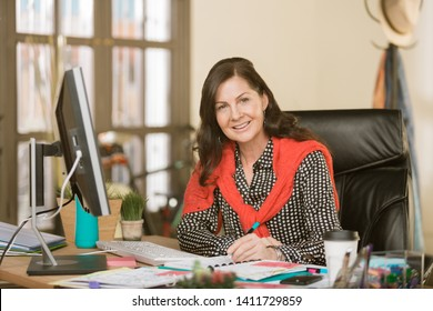 Creative professional woman in her office