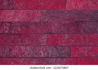 creative shabby red natural quartzite stone bricks texture for any purposes.