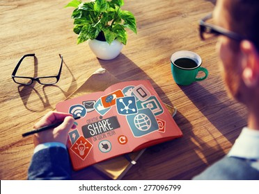 Creative Share Social Media Social Network Internet Online Concept