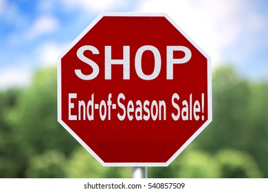 Creative Sign - Shop End-of-Season Sale