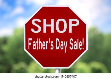 Creative Sign - Shop Father's Day Sale