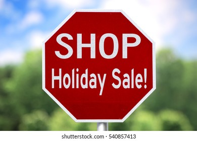 Creative Sign - Shop Holiday Sale