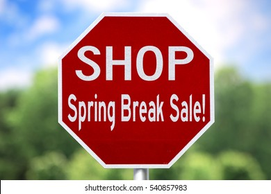 Creative Sign - Shop Spring Break Sale
