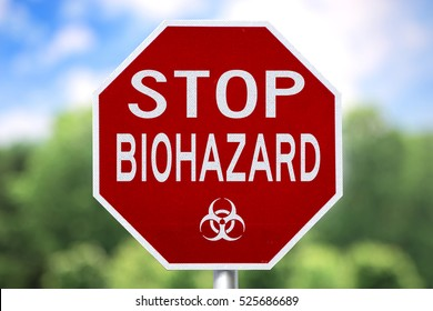 Creative Sign - Stop Biohazard and symbol