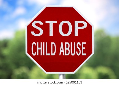 Creative Sign - Stop Child Abuse