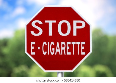 Creative Sign - Stop E-Cigarette