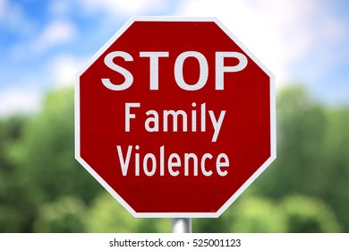 Creative Sign - Stop Family Violence