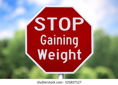 Creative Sign - Stop Gaining Weight