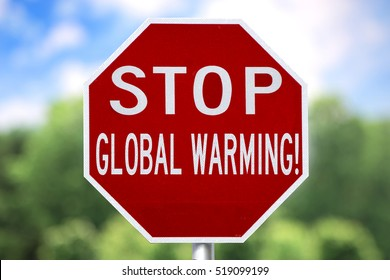 Creative Sign - Stop Global Warming
