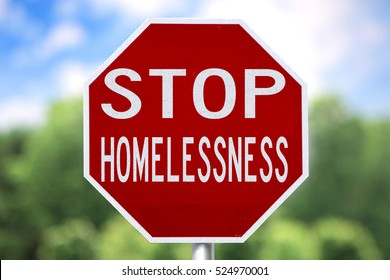 Creative Sign - Stop Homelessness