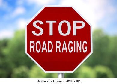 Creative Sign - Stop Road Raging