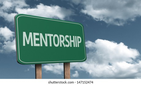 Creative sign with the text - Mentorship