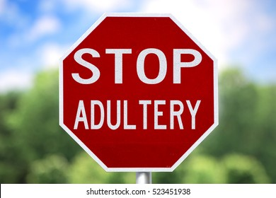 Creative Sign-Stop Adultery