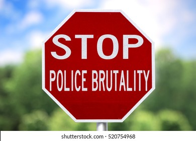 Creative Sign-Stop Police Brutality