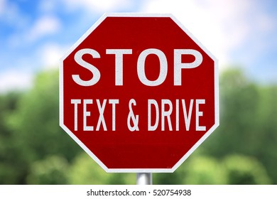 Creative Sign-Stop Text & Drive